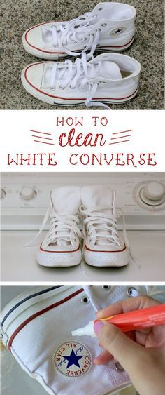 Converse are great, but they are so hard to keep clean! Here's how to keep them looking like new: www.ehow.com/...
