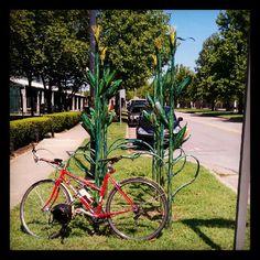 corn stalk bike rack