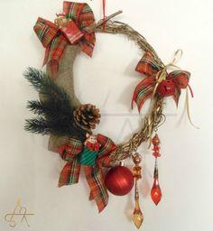HANDMADE CHRISTMAS WREATH-Φυσικα κλαδια Ελιας πλεγμενα