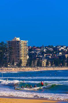 Female surf life savers, Manly Beach, Sydney, New South Wales, Australia by Blaine Harrington