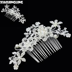 Cheap tiaras and crowns, Buy Quality wedding hair accessories directly from China crystal hair comb Suppliers: XIAOJINGLING Elegant Crystal Hair Combs Headwear Tiaras and Crowns Sparkling Pearl Head Combs Charms Wedding Hair Accessories