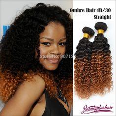 4pcs lot 6a hot ombre brazilian curly hair weave cheap