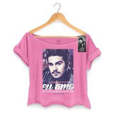 T-shirt Premium Feminina Luan Santana Eu Amo Só Você #BandupStore #EuAmoSoVoce #LuanSantanShop #LuanSantana