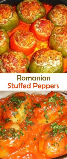 Romanian Stuffed Peppers. #recipe #recipes #food #foodgasm #cleaneating #healthyfood #pappers
