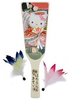 Kawaii SANRIO Hello Kitty Japanese Hagoita battledore Japanese kimono style New