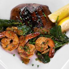 Daphne Oz's Balsamic Marinated Portobello Mushrooms with Shrimp and Spinach