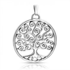 Bling Jewelry 925 Sterling Silver Celtic Swirl Circle Tree Of Life Pendant