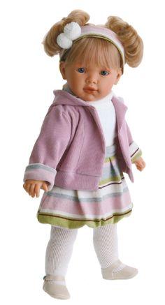 Кукла Лула в сиреневом, озвучена, 55 cм. (MUNECAS ANTONIO JUAN, Испания, 1024L)