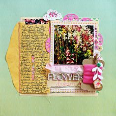 #papercraft #scrapbook #layout. Flower Dream by Jill S at @studio_calico