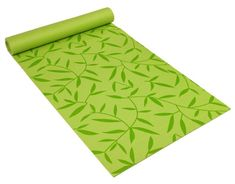 Eco-Friendly 5 mm Double Vein Yoga Mat in Bamboo Leaf Green * To view further for this item, visit the image link.