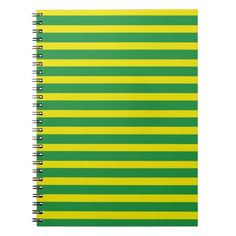 Yellow and Green Stripes Notebook