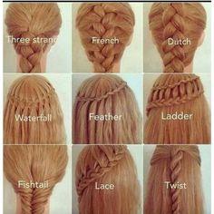 I really like the waterfall braid!!