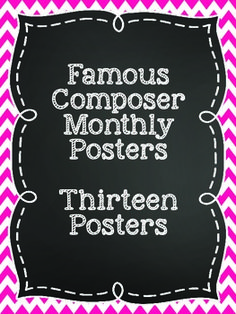 Famous Composers Posters by Laura Ferguson Preschool Music, Teaching Music, Teaching Kids, Teaching Supplies, Learning Piano, Piano Lessons, Music Lessons, Music Bulletin Boards, Music Classroom