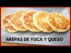 CÓMO HACER AREPA DE YUCA CON QUESO   La mejor combinación hecha Arepa! - YouTube Fun Cooking, Cooking Recipes, Columbian Recipes, Colombian Cuisine, Venezuelan Food, Sin Gluten, Food And Drink, Favorite Recipes, Breakfast
