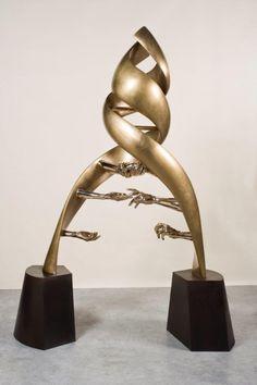 ADN del amor, bronce: Lorenzo Quinn
