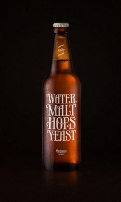 Water, malt, hops and yeast. Beautiful beer label design by Simon Ålander. Beer Brewing, Home Brewing, Web Design, Graphic Design, Graphic Art, Form Design, Grid Design, Foto Still, Beer Label Design