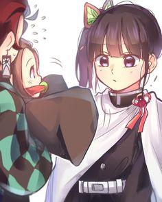 Read Kimetsu No Yaiba / Demon slayer full Manga chapters in English online! Manga Anime, Gato Anime, Anime Demon, Otaku Anime, Anime Art, Cute Anime Pics, Cute Anime Couples, Demon Slayer, Slayer Anime