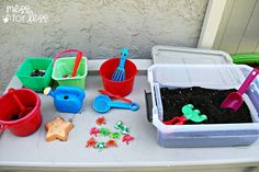 mud exploration (from messforless.net) - what kid would not love this!