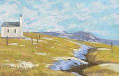 Computer Oil Painting...Emanuel Tancau: snow melts.