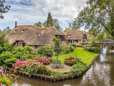 """The village of Giethoorn in northern Holland has been called many things, repeatedly: """"the Venice of the North,"""" for its serene canals"""
