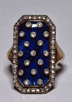 """Diamond & enamel ring of the heavens"" belonged to Marie Antoinette."