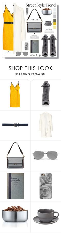 """""""lace up"""" by yumadh ❤ liked on Polyvore featuring Mulberry, Prada, M&Co, The Row, Marni, Yves Saint Laurent, PALLAS, Casetify, blomus and Royal Doulton"""