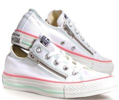c1661eaf4580c White Converse, Converse All Star, Zippers, Me Too Shoes, Pairs, Hate