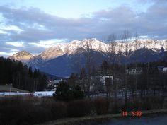 Foto Claudia Costa. Vista da varanda do Hotel Gruberhoff, Igls, Áustria..