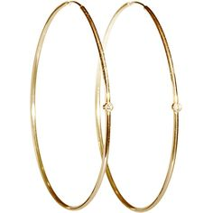 Jennifer Meyer Diamond & Gold Hoops ($550) ❤ liked on Polyvore featuring jewelry, earrings, accessories, brincos, 18k yellow gold earrings, 18k gold earrings, 18 karat gold jewelry, bezel set diamond earrings and gold jewelry