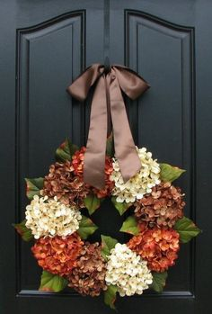 Pretty Hydrangea Wreath!