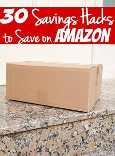 30 easy savings hacks to save big money on Amazon. - These 30 ways to save money on Amazon will save you a ton of money!