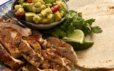 Lime-Rubbed Chicken Tacos with Corn Guacamole