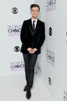 Chris Colfer at the CBS/People's Choice Awards Photo Booth