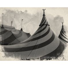 "Vintage Circus Photo in Black & White - ""Big Top"""