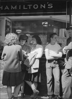 Truant Teenagers in downtown Los Angeles, 1946