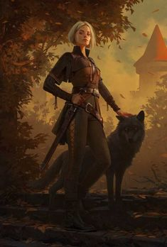 Viking Woman and Wolf female viking Fantasy Character Design, Character Creation, Character Design Inspiration, Character Concept, Character Art, Concept Art, Viking Character, Dnd Characters, Fantasy Characters