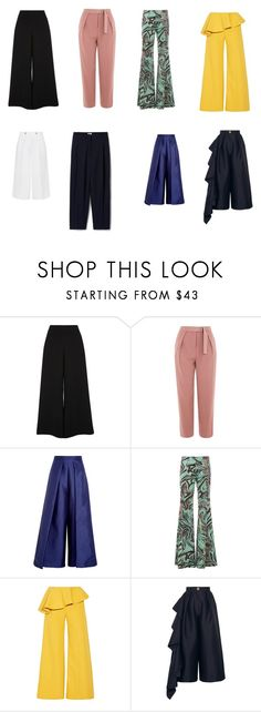 """""""Брюки"""" by tatyanatunik on Polyvore featuring мода, River Island, Victoria, Victoria Beckham, Topshop, Solace, Emilio Pucci и Rosie Assoulin"""