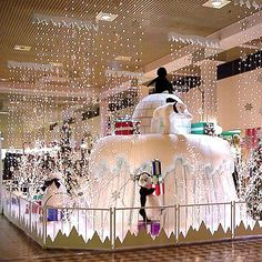 Commercial Holiday Displays, Commercial Christmas Decorations, Commercial Holiday Display, Commercial Christmas Displays - Straight Rail Fencing