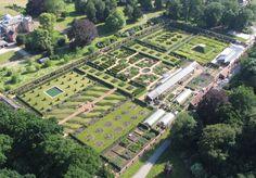 Scampston Hall Walled Garden, designed by Piet Oudolf - photo by Piet Oudolf;  The Scampston country estate is near Malton, England.