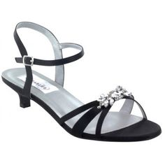 Black Velvet Low Heel Cocktail Party Evening Fashion Sandals Shoes ...