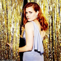 Stunning: Amy Adams posed for the Golden Globes' behind the scenes Instagram page on Sunday night