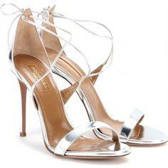 Linda metallic leather sandals AQUAZZURA Handtaschen, Metallische Sandalen,  Metallisches Leder, Echtleder, Absatzschuhe 96411a7752