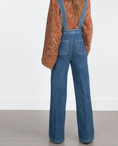 Image 4 of DENIM DUNGAREES from Zara