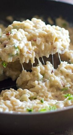 Creamy cauliflower garlic rice.