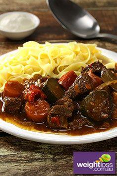 Hungarian Beef Goulash Recipe. #GoulashRecipes #DietRecipes #BeefRecipes #WeightLossRecipes weightloss.com.au