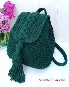 This Pin was discovered by Nih Knitting yarn Mint Size 100 m Thickness mm Weight 330 g cotton Main manufacturing Worth 1900 tg Vatsap 87015190599 # knitting yarn # Crochet Pattern - Check this out now! Crochet Backpack Pattern, Free Crochet Bag, Crochet Bags, Crochet Top, Crochet Bag Tutorials, Diy Crafts Crochet, Crochet Ideas, Crochet Handbags, Crochet Purses