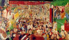 "James Ensor ""Christ's Entry Into Brussels"""