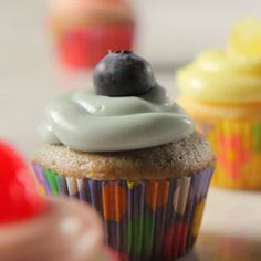 Ingredients Makes: 96 mini cupcakes Cook: 25 minutes 1 box white cake mix, divided into thirds 3 egg whites, divided 9 tablespoons vegetable oil, divided 1 White Cake Mixes, Mini Cupcakes, Cake Recipes, Buffet, Baking, Desserts, Easy, Happy Birthday, Food