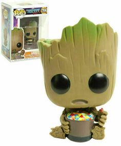 2 Groot with Candy Bowl Exclusive Pop! Vinyl Figure for sale online Custom Funko Pop, Funko Pop Vinyl, Baby Groot, Funko Figures, Vinyl Figures, Toy Art, Funko Pop Dolls, Pop Figurine, Disney Pop