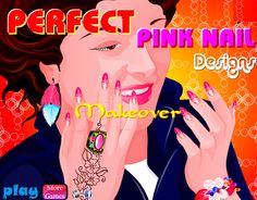 Wedding girl nail makeover games dressup24h nail design perfect pink nail designs games prinsesfo Images